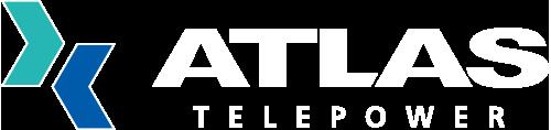 Atlas telepower logo rgb white